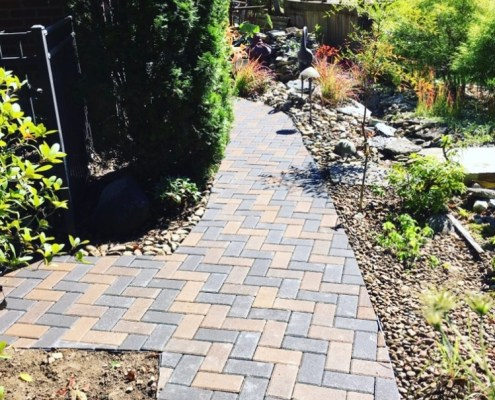 Paver Walkway with Landscaping