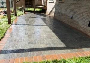 Paver Patio with Brick Border