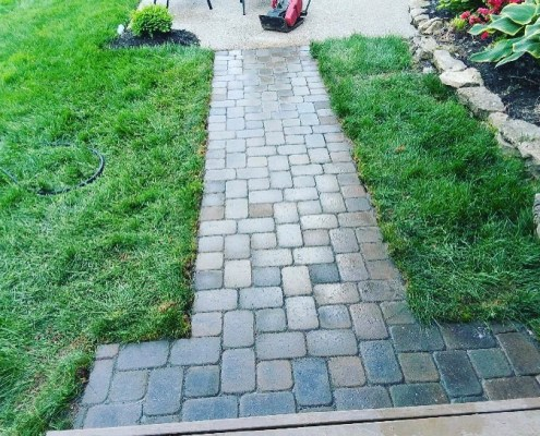 Paver Walkway with Sod