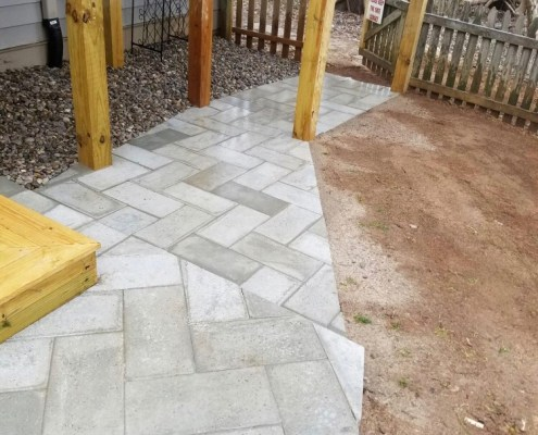 Herringbone Paver Walk Way