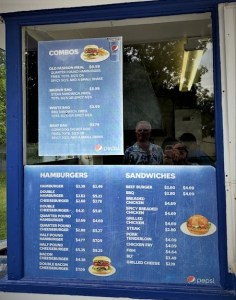 a picture of the menu at the Try-Mee Drive Inn