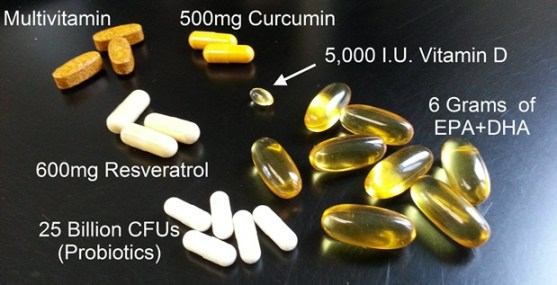 My morning supplements (Fall 2012)
