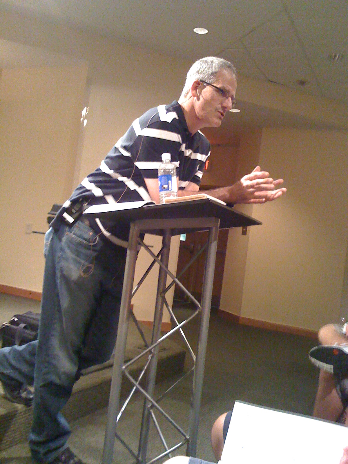 Bob Kauflin at the first seminar...words of wisdom everywhere...