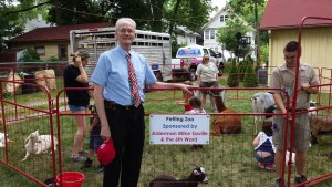 Mike at July 4th Tanner Museum Petting Zoo.