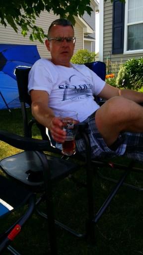 Chris Tyrrell enjoying a SEWC Ale