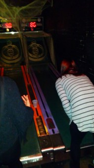 Randi loves Skee-Ball! Here we are at the Up-Down Bar in the East Village.