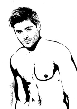 zac efron drawing drawings indian a4