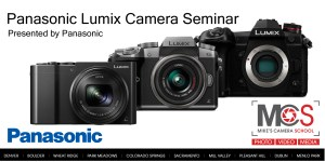 Panasonic Lumix introductory seminar @ Mike's Camera, Co. Springs