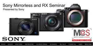 Sony Alpha & RX-Series introductory seminar @ Mike's Camera, Co. Springs