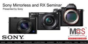 Sony Alpha & RX-Series introductory seminar @ Mike's Camera, Dublin