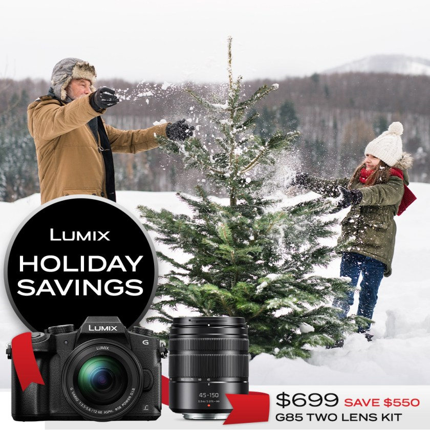 Lumix G85 two-lens kit $699 Save $550