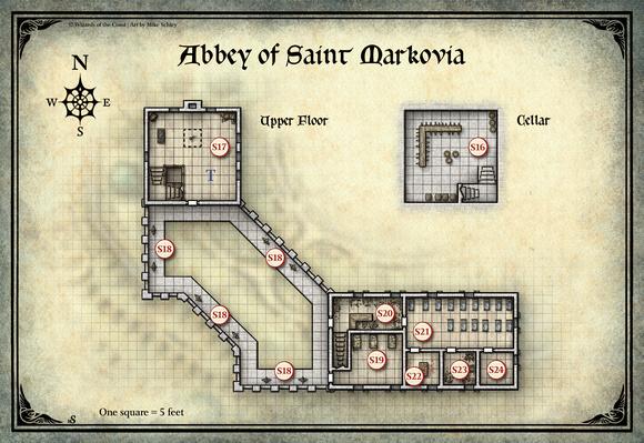 Mike Schley: Curse of Strahd &emdash; Curse of Strahd; Abbey of Saint Markova 2 (Digital DM & Player Versions) $1.75