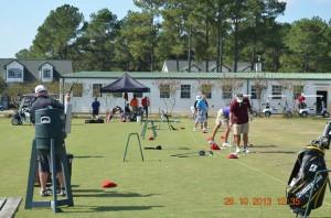 Golf warming up