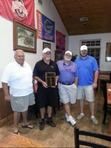 Golf winning team