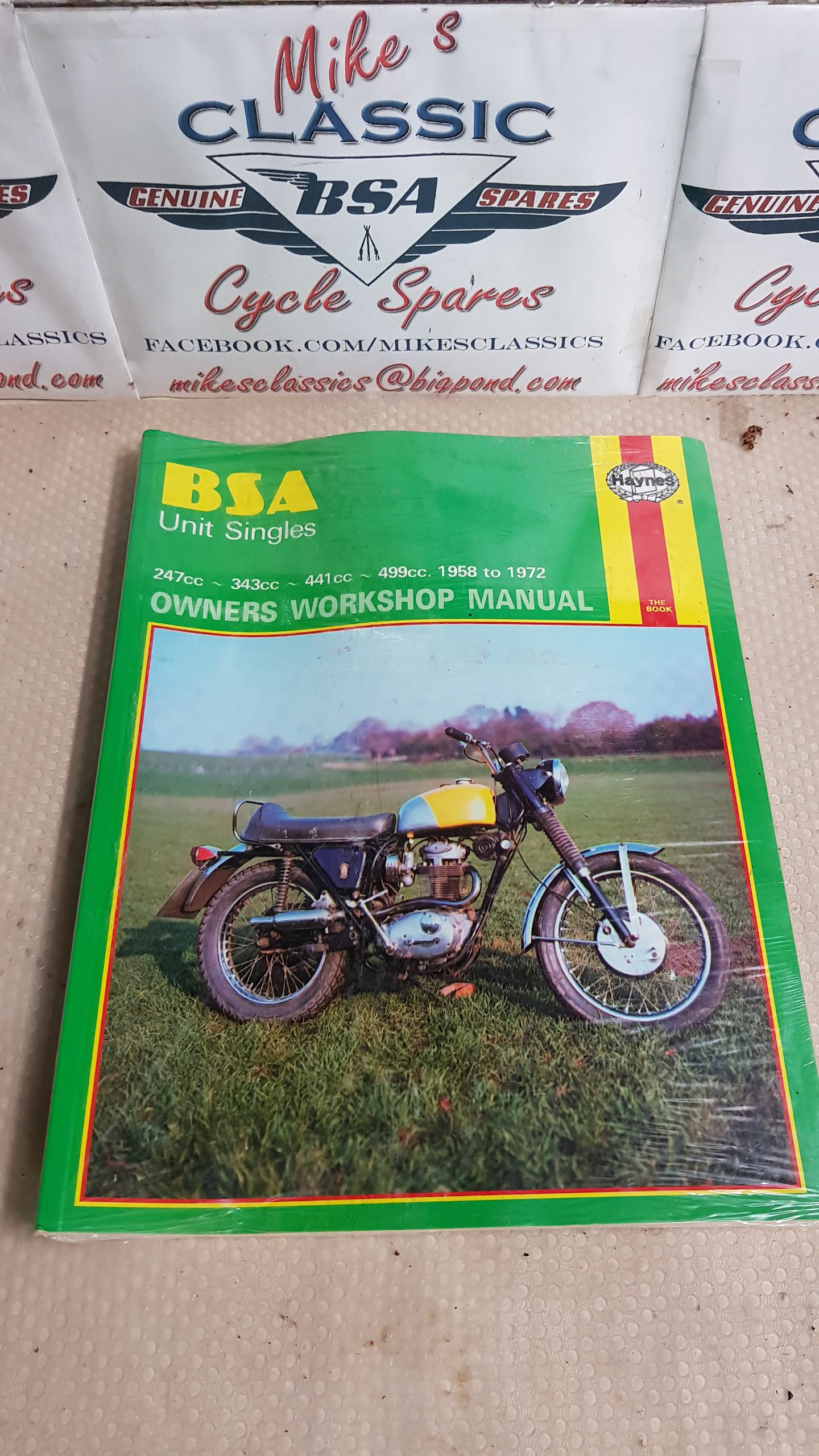 NEW HAYNES BSA UNIT SINGLES OWNERS WORKSHOP MANUAL C15 B25 C25 B40 B44 B50