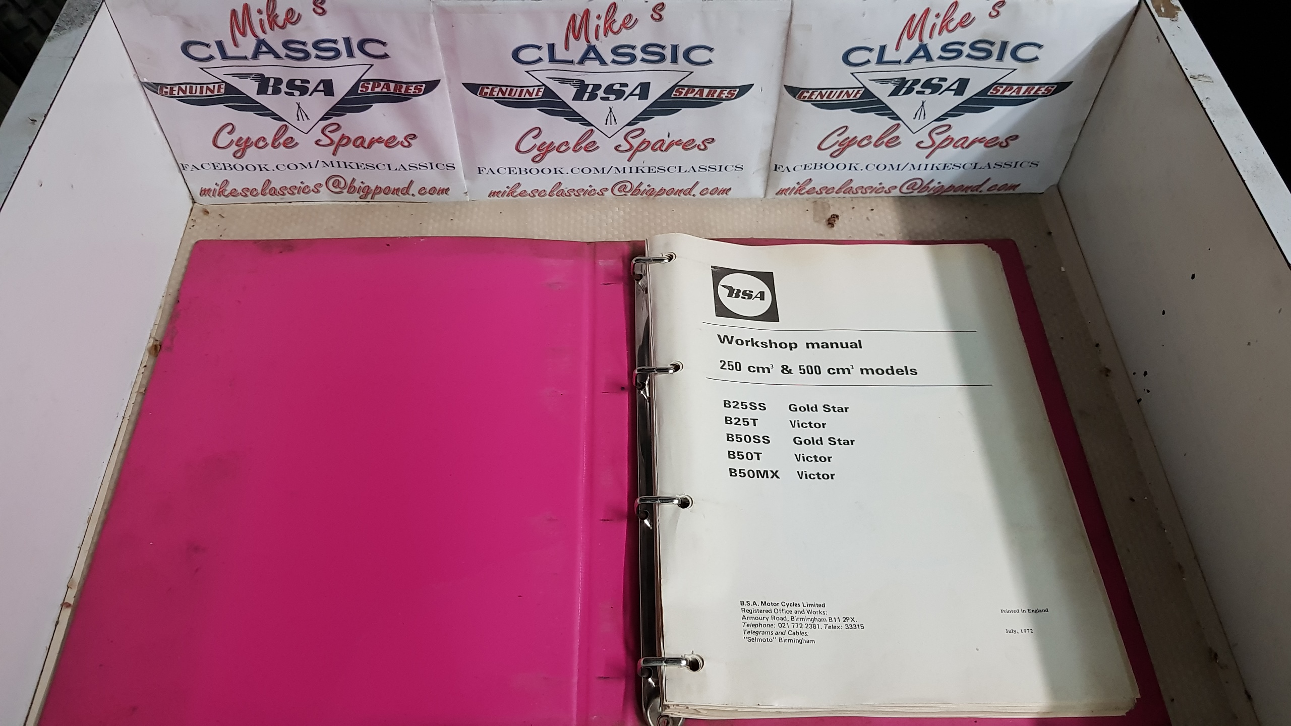 ORIGINAL 1971 BSA B25 B50 WORKSHOP MANUAL 00-4188