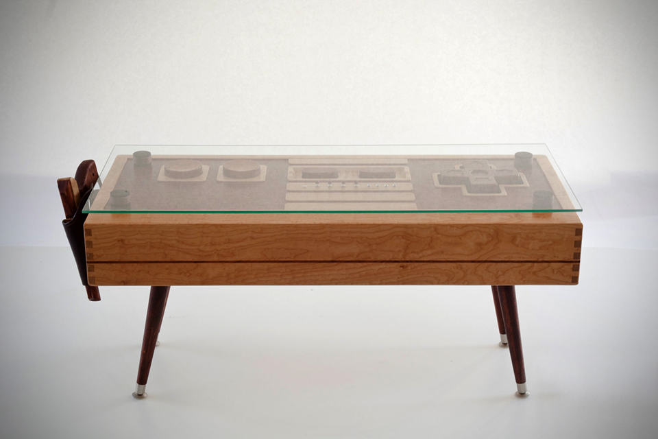 wooden nintendo nes controller coffee table mikeshouts