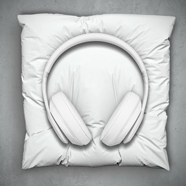 This Beats Headphones Come With Cast Marble Pillow For It