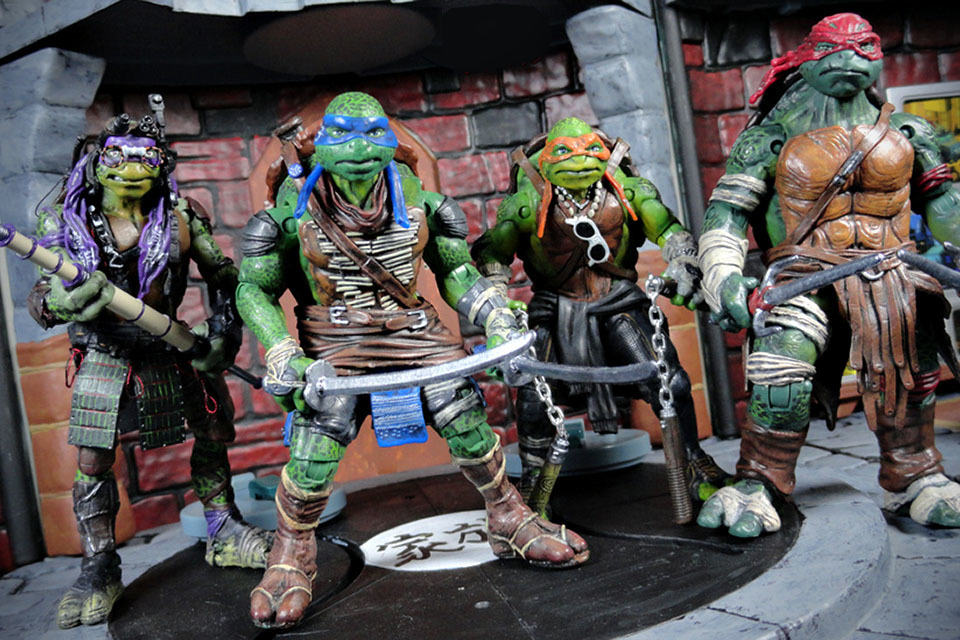ninja turtle chair toys r us office armrest replacement someone just turned toy ish tmnt action figures into awesome movie custom accurate teenage mutant turtles figure set