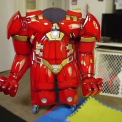 Kid Camping Chair Seat Pads For Wicker Chairs One Very Lucky Iron Man Super Fan's Gets A Hulkbuster High - Mikeshouts