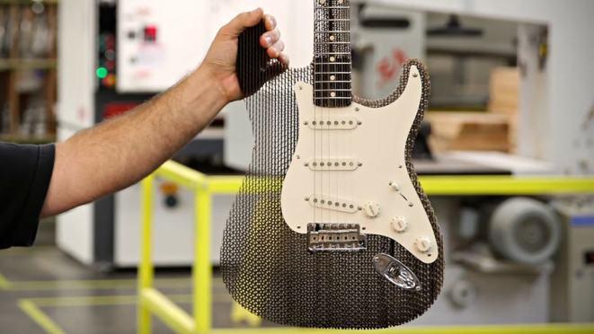 Ernest Cardboard Fender Stratocaster Guitar