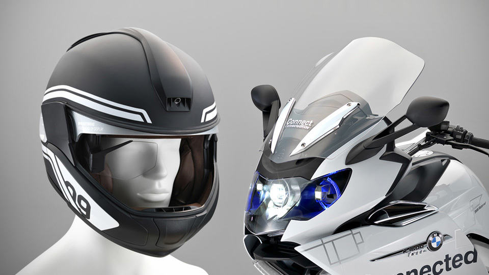 BMW Brings Concept Motorcycle With Laser Light And HUD