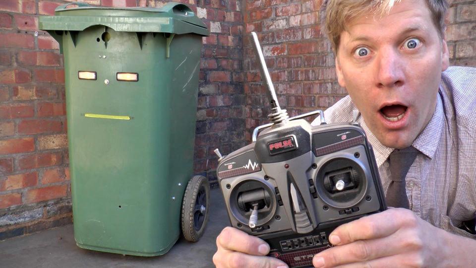 RC Wheelie Bin AKA Trash Can Lets You Remotely Wheel It