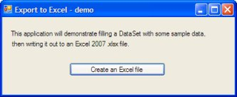 Screenshot from the C# demo