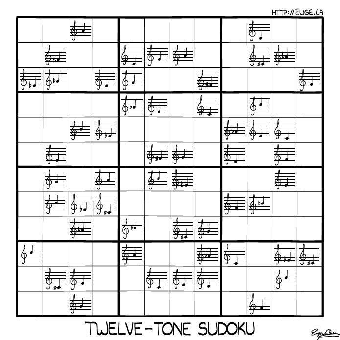 Dodecaphonic Sudoku