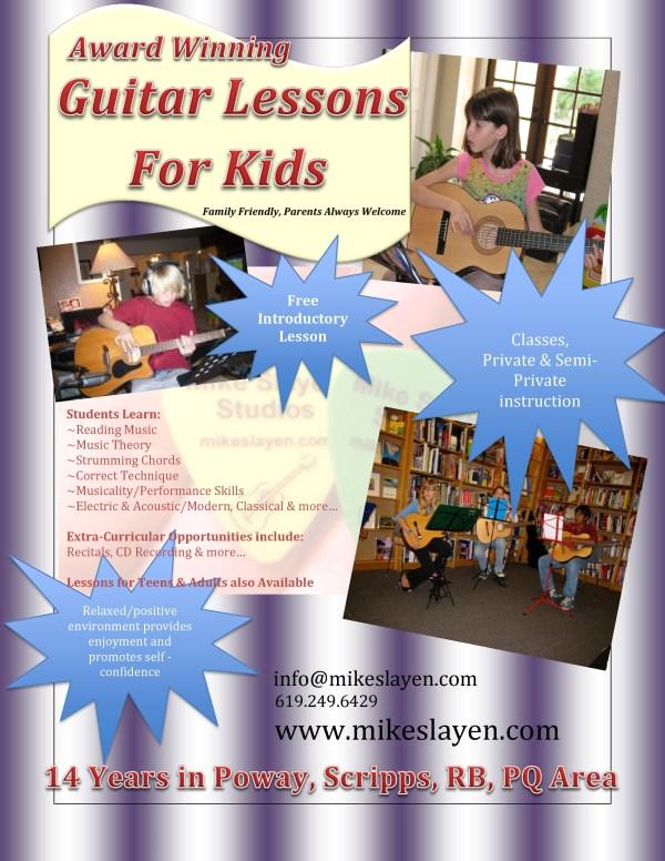 Guitar Lesson Flyer