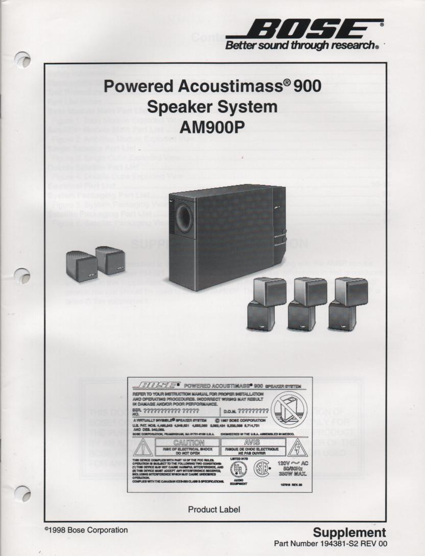 hight resolution of bose 901 series v manual tandinas co uk