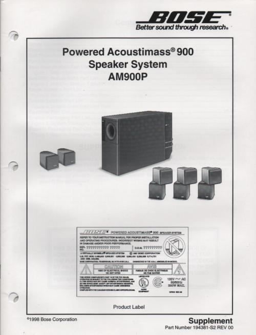 small resolution of bose 901 series v manual tandinas co uk