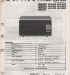 quasar mq548w mq5558h mq5558w mq5558hc mq5568h mq5568w mq5568hc mq5598h mq5598w mq5598hc microwave oven service instruction manual jpg [ 832 x 1104 Pixel ]