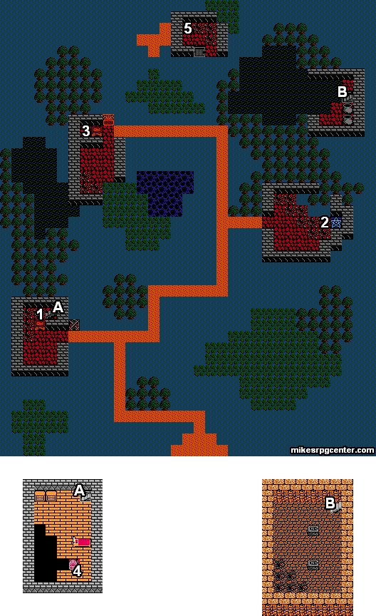 Dragon Warrior Map on