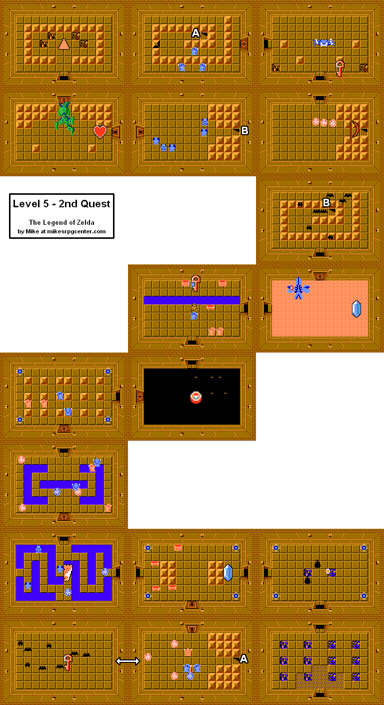 Legend Of Zelda Secrets Map : legend, zelda, secrets, Mike's, Center, Legend, Zelda