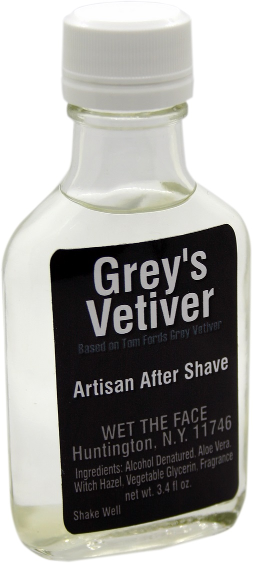 Wet The Face Grey's Vetiver aftershave