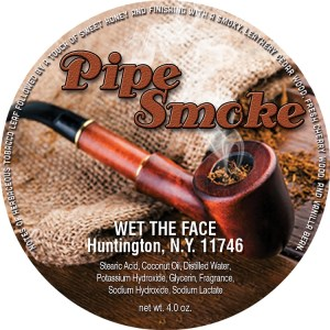 Wet The Face Pipe Smoke shaving soap