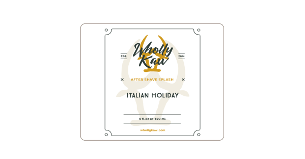 Wholly Kaw Italian Holiday aftershave