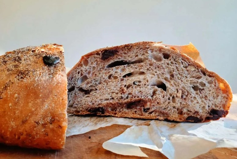 No Knead Chocolate Walnut Bread