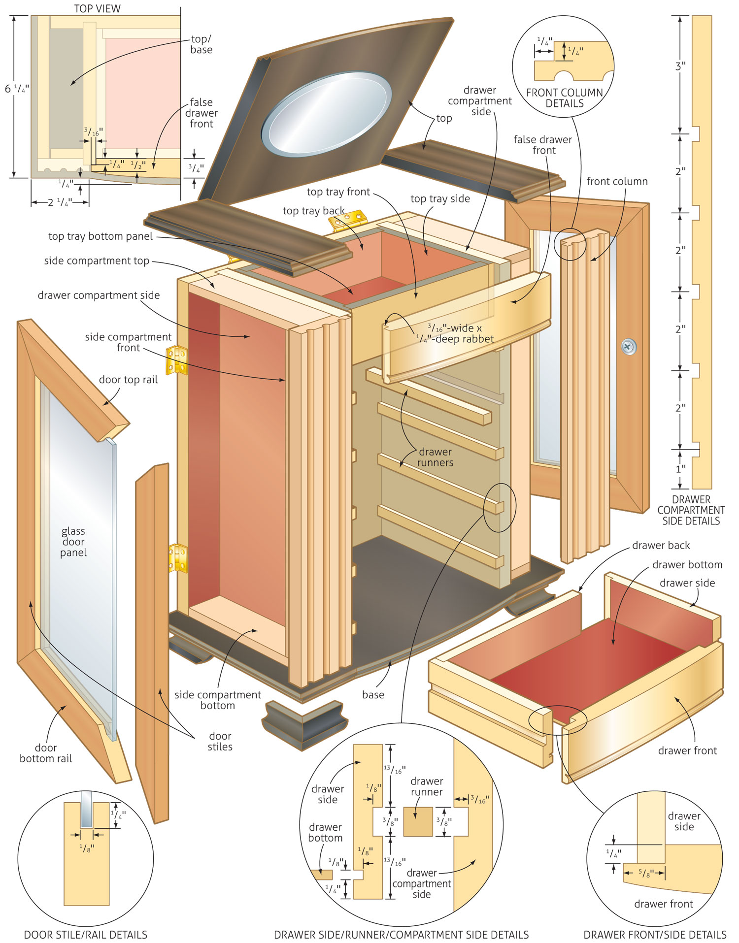 Wood Magazine Jewelry Box Plans : magazine, jewelry, plans, Jewelry, Woodworking, Plans