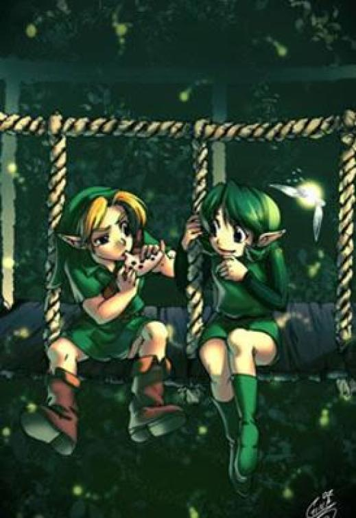 saria-teaching-link-fan-art