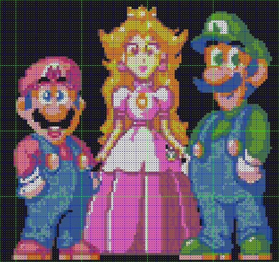 Meet the Man with his Very own Perler Bead Mario Room - Miketendo64