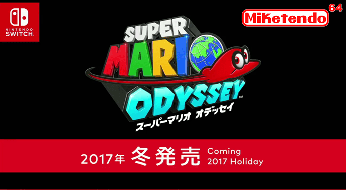 Nintendo Switch Confirmed Super Mario Odyssey Miketendo64