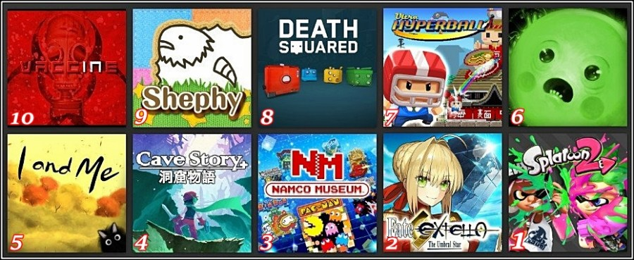 Jacktendo Selects: My Top 10 Switch Games of July 2017