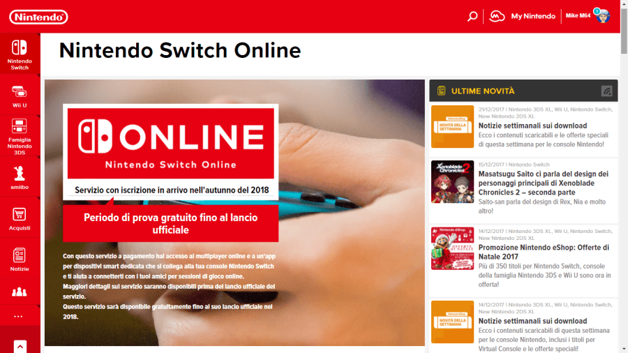switch online paid online service to officially launch fall 2018