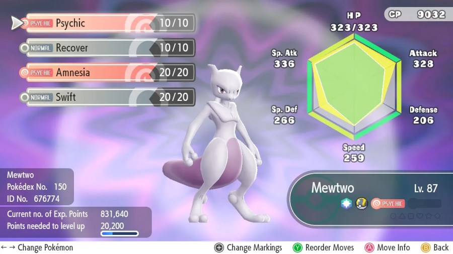 Mewtwo Master guide