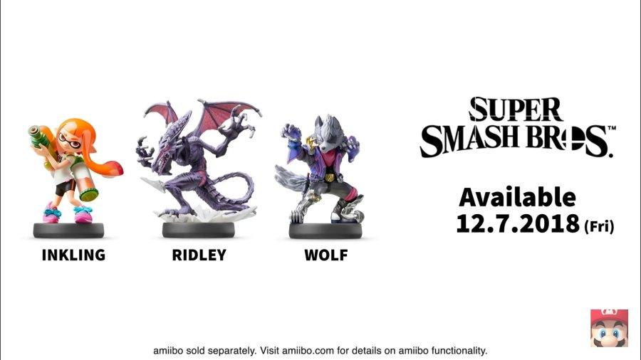 Super Smash Bros. Ultimate amiibo Release Dates