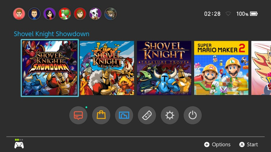 Shovel Knight Showdown Home screen.jpg