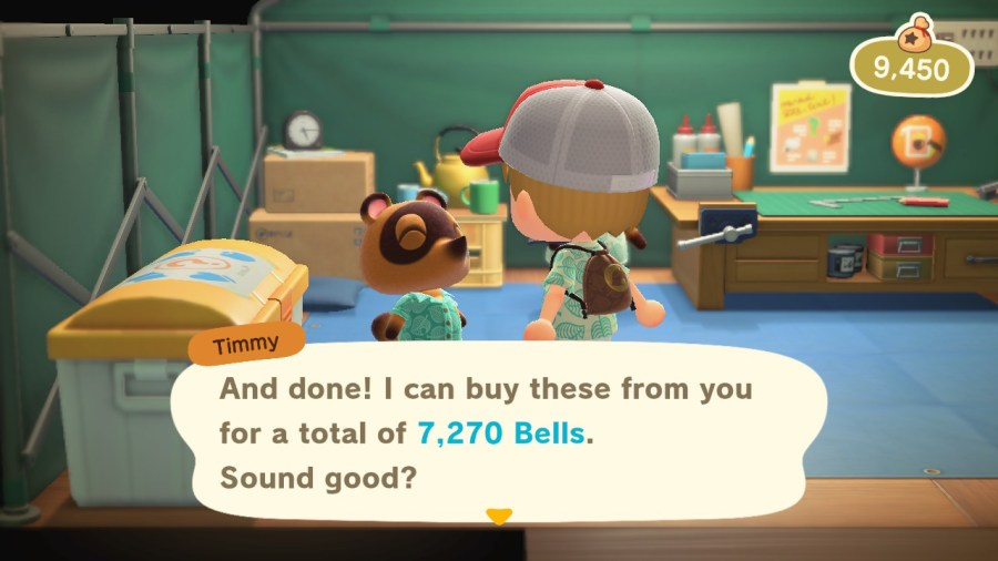 Animal Crossing Sell Items