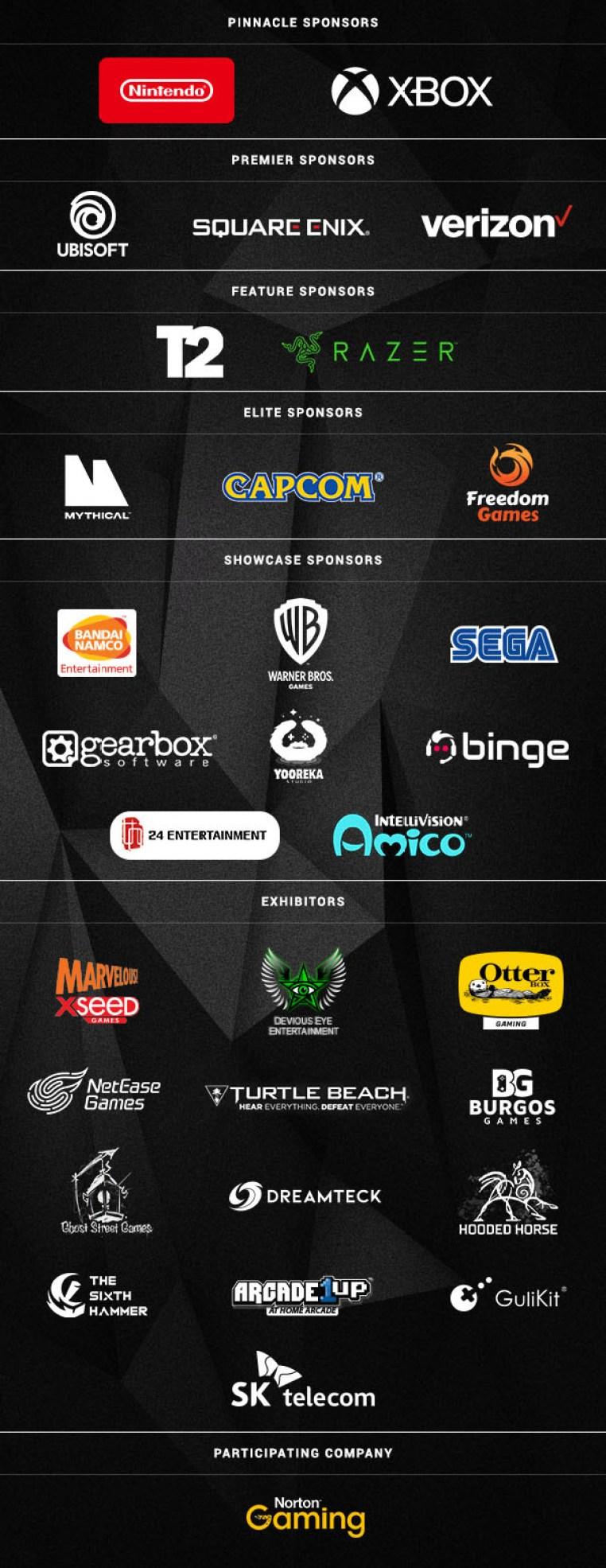 E3 2021 Sponsors